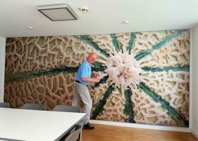 Wandbespannung als Akustik-Maßnahme