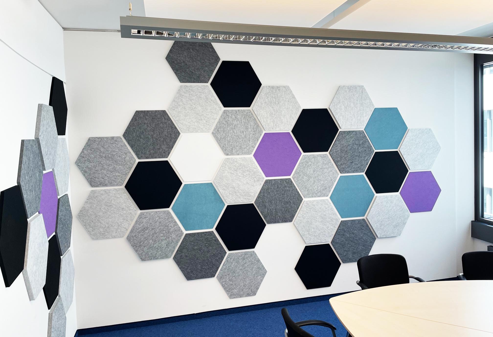 Hexagon 3D Wandgestaltung